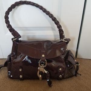 Francesco Biasia patent leather handbag